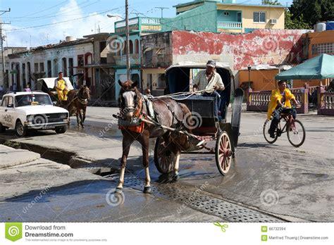 Cuba, Cardenas, Coach Editorial Stock Image
