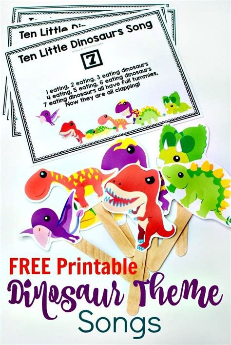 counting songs for preschool 432 best dinosaur theme activities for images on 415