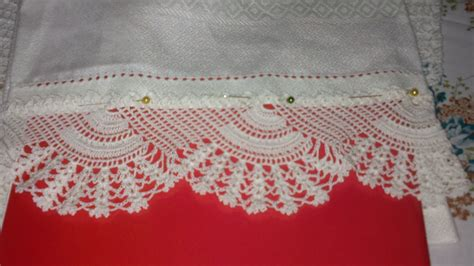 bordure uncinetto per mensole lavori all uncinetto bordure x asciugamani all uncinetto