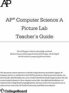 Picture Lab Teacher Guide