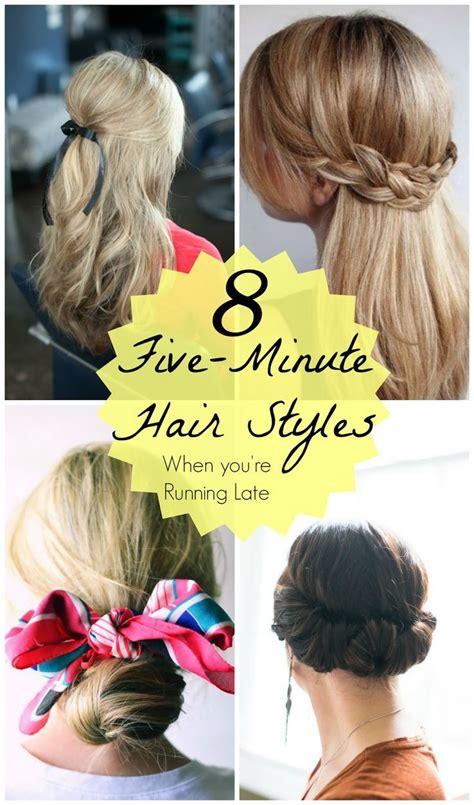 5 minute hair styles coiffures de 5 minutes max pour vos matin 233 es press 233 es 1042
