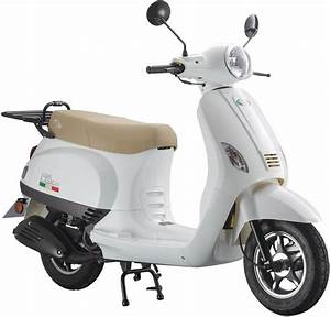 Motorroller 50 Ccm : motorroller lux 50 50 ccm 45 km h f r 2 personen wei ~ Kayakingforconservation.com Haus und Dekorationen