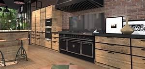 Cuisine Style Industriel Bois : cuisine bois industriel ~ Teatrodelosmanantiales.com Idées de Décoration