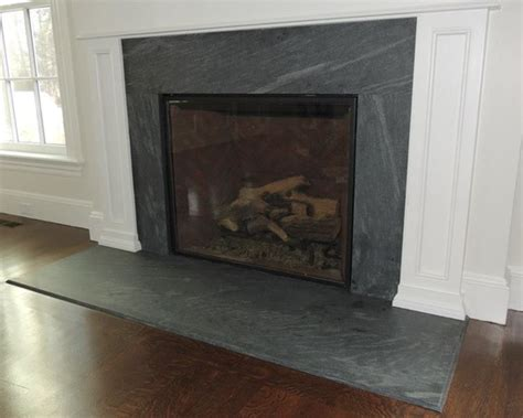 Soapstone Hearth Slab by Fireplace Surrounds Make A Statement Without Saying A