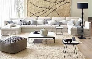 Salon avec un canapé blanc : 12 idées déco dont s'inspirer