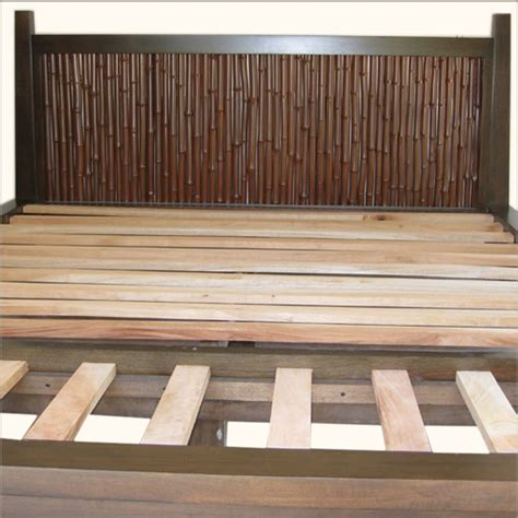 Bamboo Headboards For Beds by Bamboo Headboard But Lighter Finish Diy