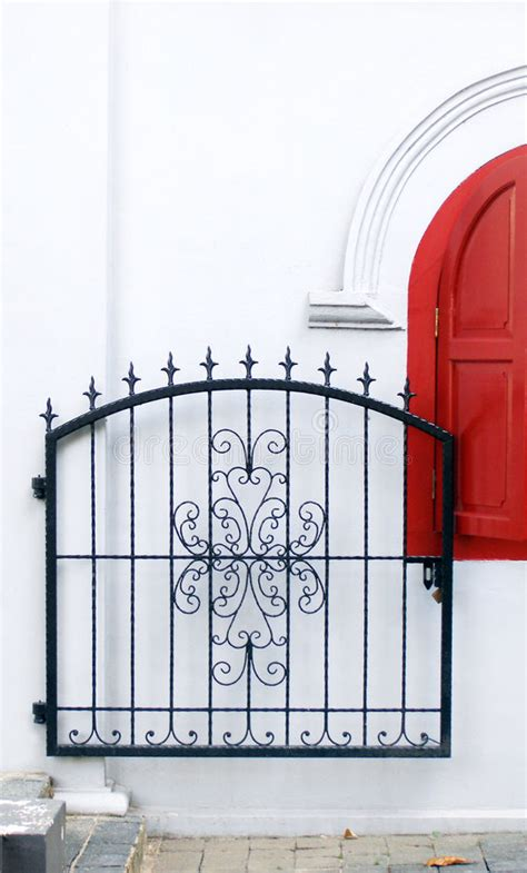 wrought iron gate ornate stock image image  cozy court