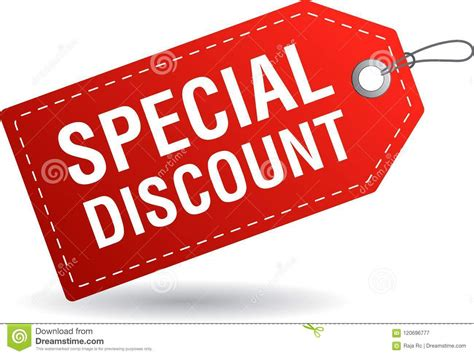 Special Discount Tag Label Red Stock Illustration ...