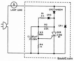 Series Scr Lamp Flasher Handles A Wide Range Of Loads - Basic Circuit - Circuit Diagram