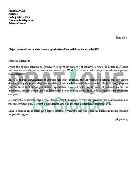 lettre de motivation 224 une organisation d accueil dans le