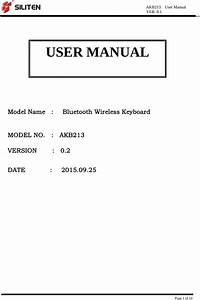 Targus 000068 Bluetooth Wireless Keyboard User Manual