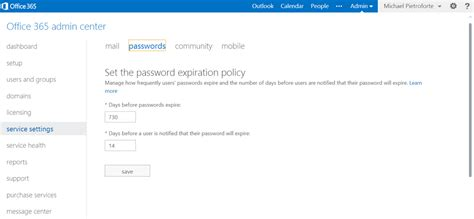 Office 365 Outlook Password Reset by Enable User To Change Expired Password With Owa For Exchange