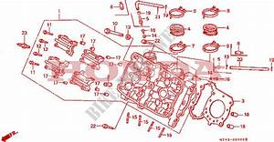 Cylinder Head  Front  For Honda Vfr 750 1991   Honda