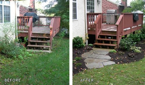 backyard before and after pictures naturescapes landscaping portfolio gallery