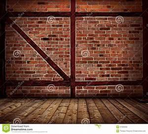 Mur En Brique Intérieur : int rieur de plancher de mur de briques et en bois de vintage photo stock image 57095593 ~ Melissatoandfro.com Idées de Décoration