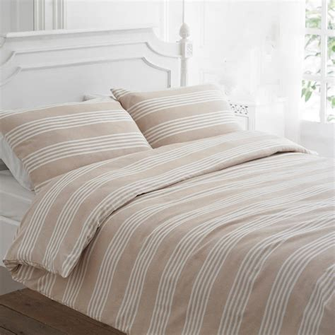 beige duvet cover beige stripe brushed cotton duvet cover set by marquis
