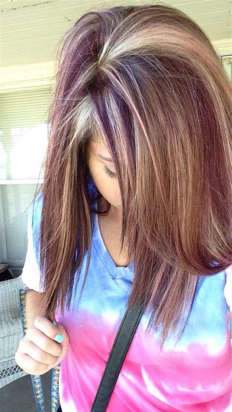 reddish purple hair color reddish purple and highlights hair