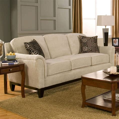Loveseat With Ottoman by Carver Sofa With Exposed Wood Base Quality Furniture At