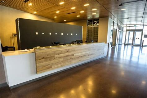 WOOD ANCHOR   Public Entrance Reception Desk   Canadian