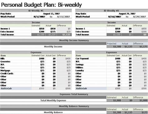 bi weekly budget template bi weekly budget template free home budget templates ms excel templates