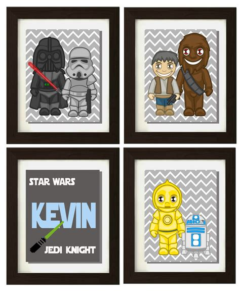 star wars inspired wall art star wars personalized name