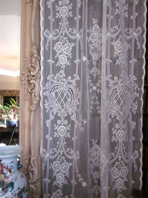 highland style cotton lace curtain