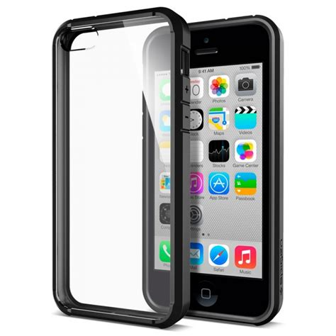 jual spigen iphone se   case ultra hybrid black