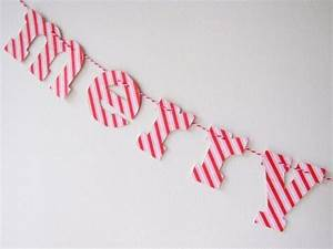 Letter garland paper things pinterest for Letter garland