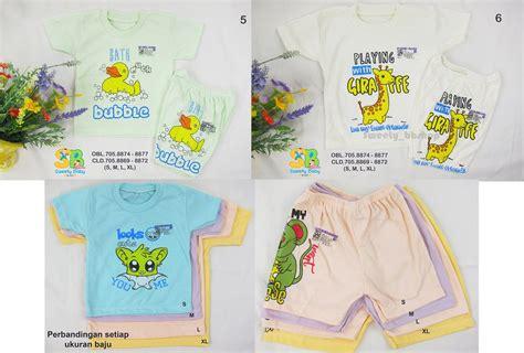 jual setelan baju bayi or anak lengan pendek or piyama anak isi 2 di lapak sweety bbshop