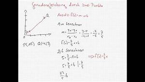 Notendurchschnitt Punkte Berechnen : funktionsgleichung durch zwei punkte aufstellen youtube ~ Themetempest.com Abrechnung