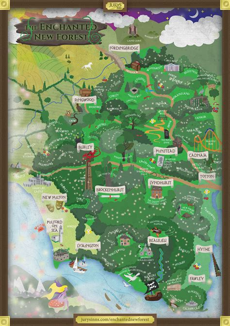 enchanted  forest  magical map  jurys inns
