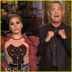 Tom Hanks & Lady Gaga Go Glam Rock For In 'snl' Promo