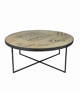 Table Basse Ronde Bois Metal : tables basses ~ Teatrodelosmanantiales.com Idées de Décoration