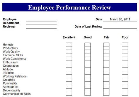 employee performance tracking spreadsheet sample