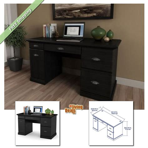 computer desks for home office with storage table wood
