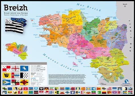 cuisiner les cardes poster carte des pays de bretagne bretagne terroir et
