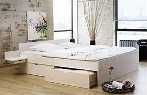 Bett Mit Stauraum 160x200 : schubkasten doppelbett aus buche oder kiefer bett norwegen ~ Indierocktalk.com Haus und Dekorationen