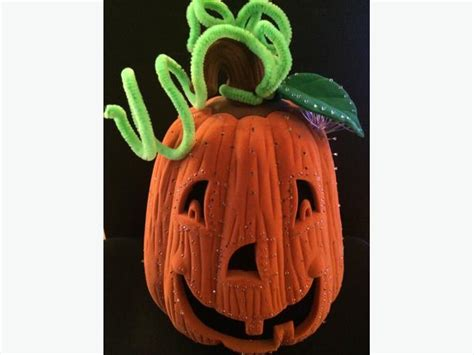 10 quot avon glowing fiber optic pumpkin halloween jack o