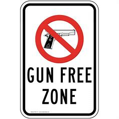 Image result for Gun Free Zone Sign
