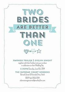 two brides are better than one digital personalized print With lesbian wedding shower ideas
