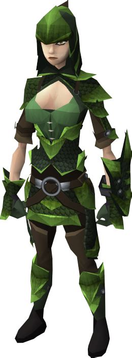 green dragonhide armour the runescape wiki
