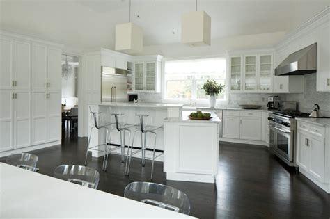 angled kitchen island transitional kitchen weitzman halpern design