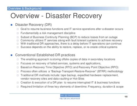 a disaster tolerant cloud computing model as a disaster