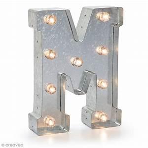 Lettre Metal Vintage : lettre lumineuse en m tal vintage m 25 x 18 5 x 4 5 cm lettre lumineuse led creavea ~ Teatrodelosmanantiales.com Idées de Décoration