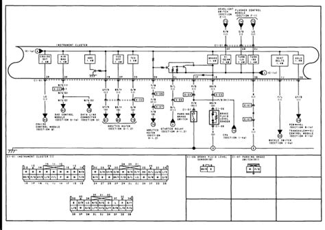 i need the wiring diagram for in connector a 2001 mazda millenia instrument cluster i need to