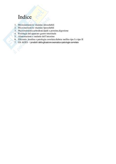 università di alimentazione lezioni esame appunti di scienze dell alimentazione