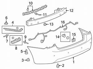 Chevrolet Cruze Parking Aid System Wiring Harness  Rear