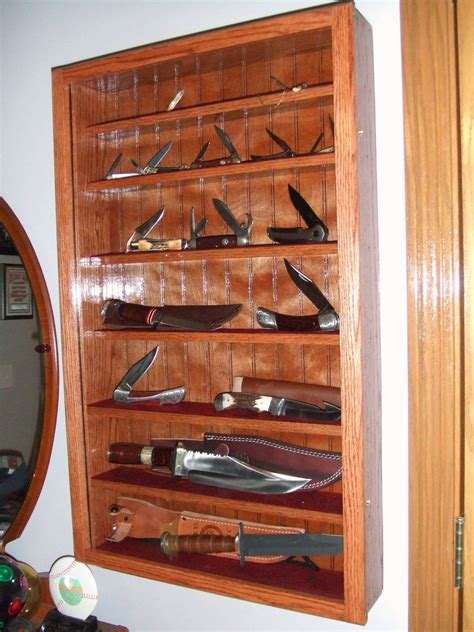 Knife Display Cabinet by Diy Knife Display Stand Search Pinteres