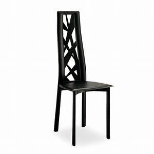 Chaise de salle a manger en croute de cuir cathy 4 for Salle À manger contemporaineavec chaise sejour cuir