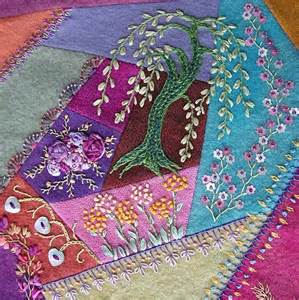Crazy Quilting with Embroidery Ribbon